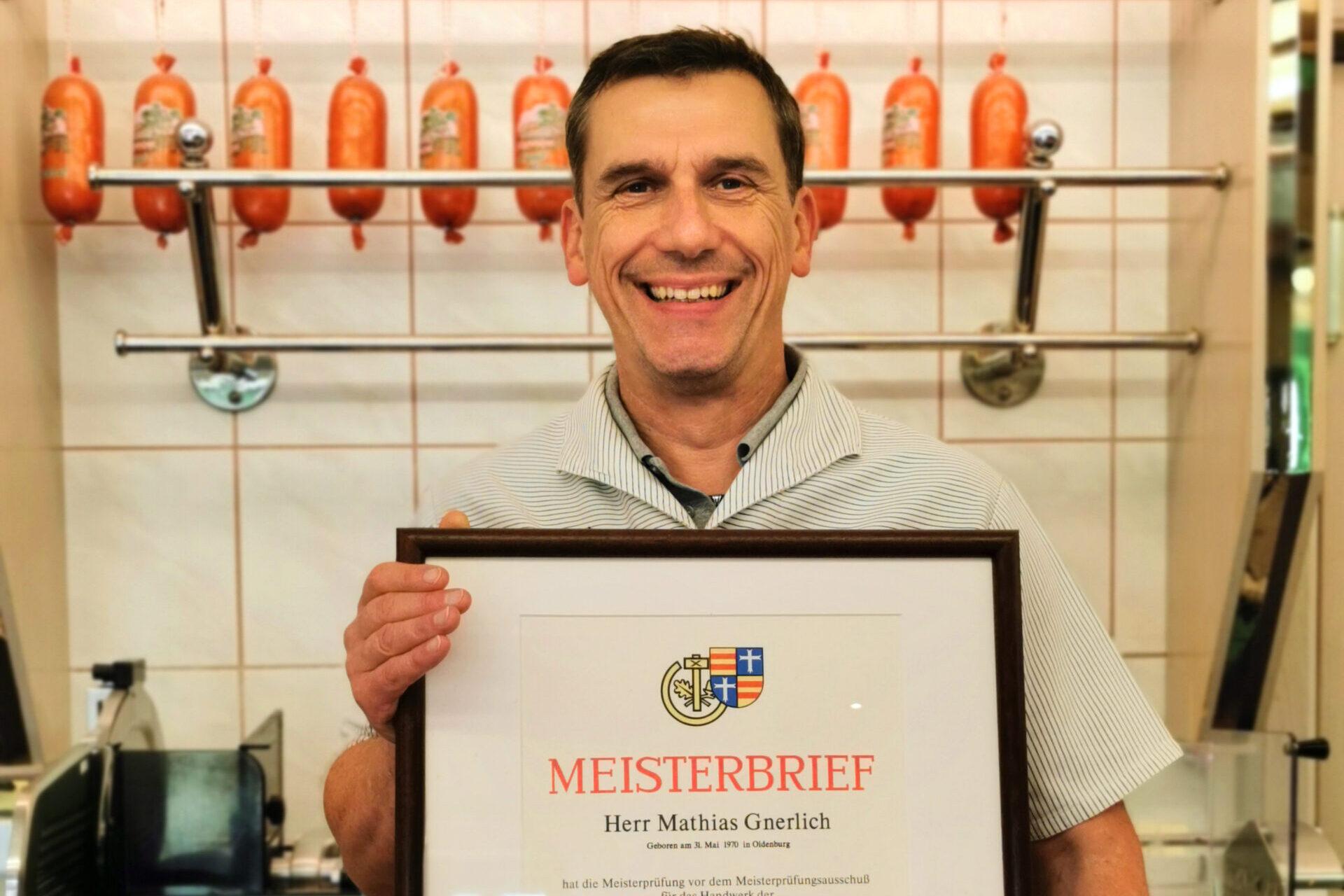 Fleischermeister Mathias Gnerlich